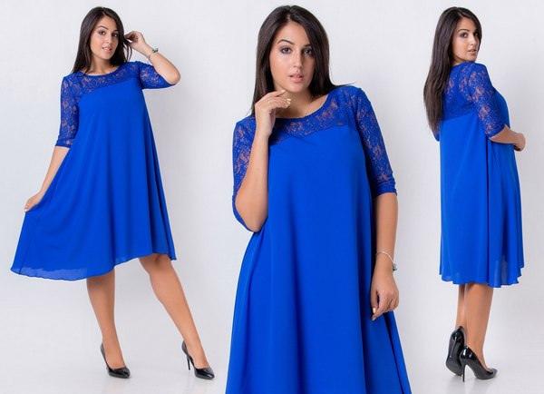 Красивое платье трапеция