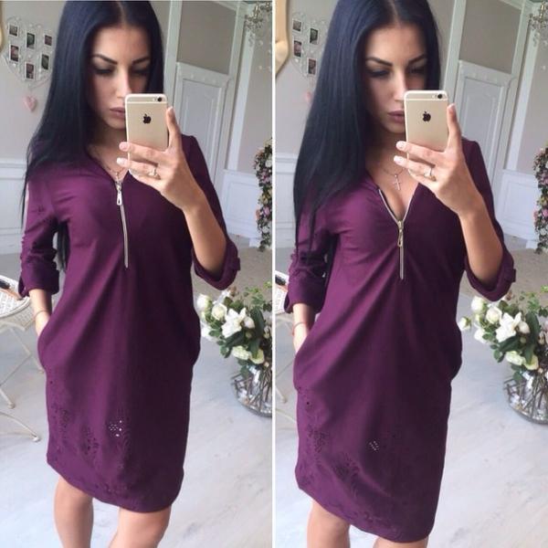 Красивое современное платье