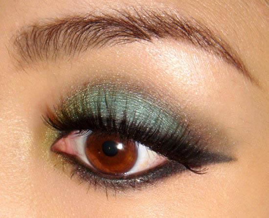 Красивые зеленые тени