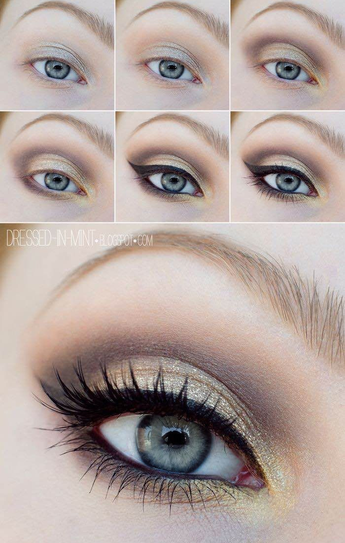 Красивый ежедневный макияж для серых глаз и русых волос