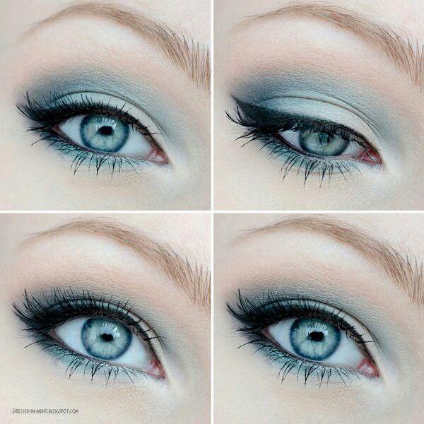 Красивый макияж глаз для голубых глаз – собираемся на вечеринку