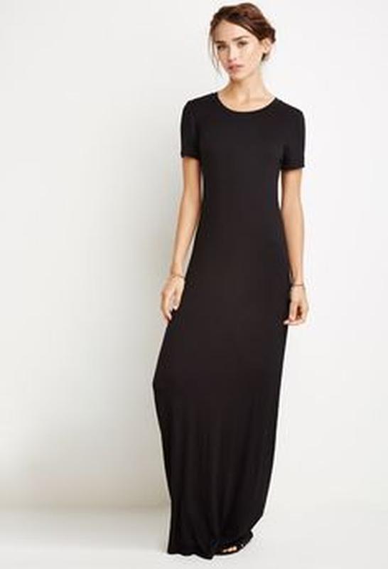 Крутое макси платье-футболка от zara