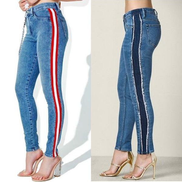 Лампасы на джинсах