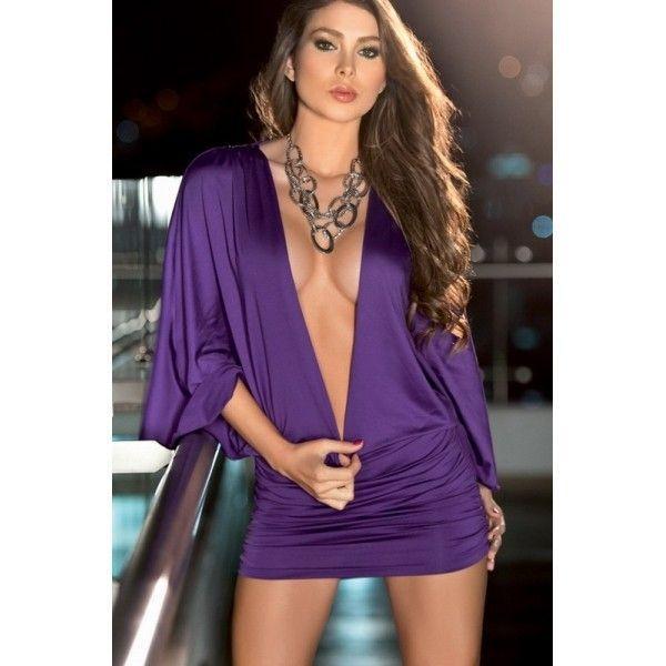 Легкое фиолетовое платье