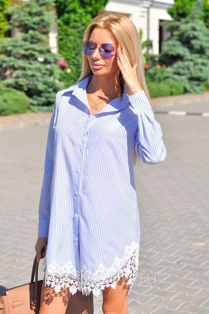 Летнее платье рубашка