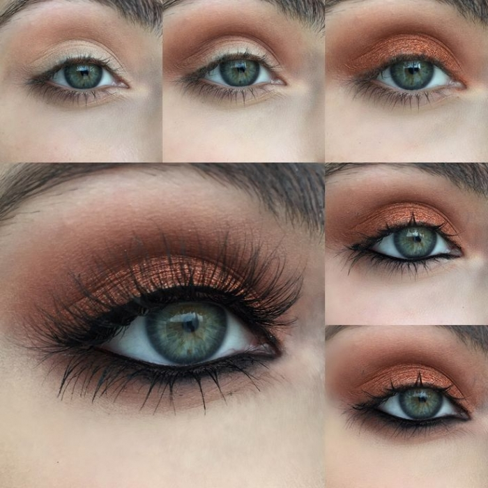 Макияж для блондинки с серыми глазами