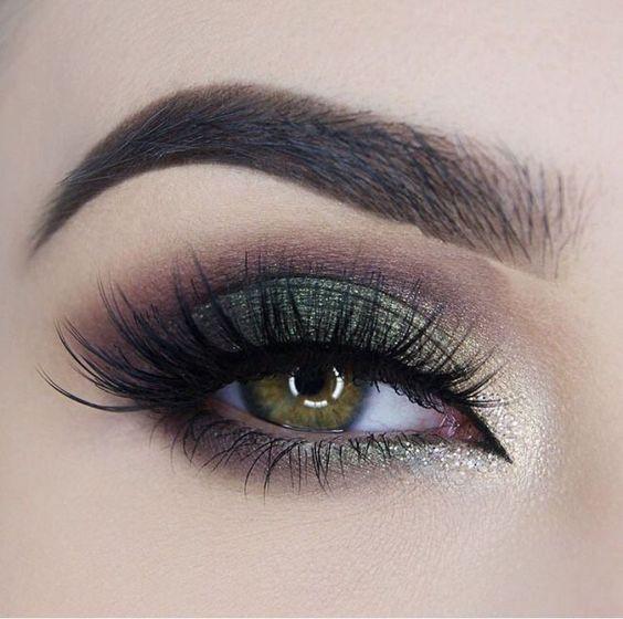 Макияж для зеленых глаз в зеленых тонах