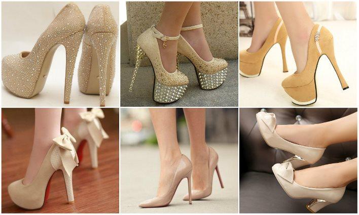 Модели свадебных туфель цвета айвори