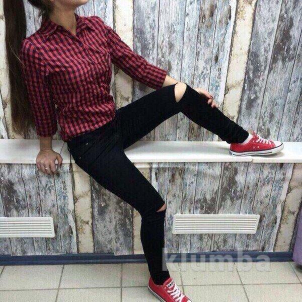Модные штаны черного цвета