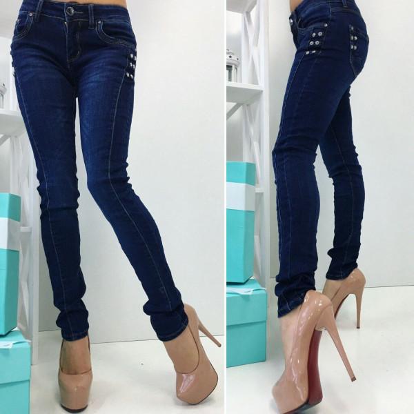 Модные женские джинсы с двойным швом