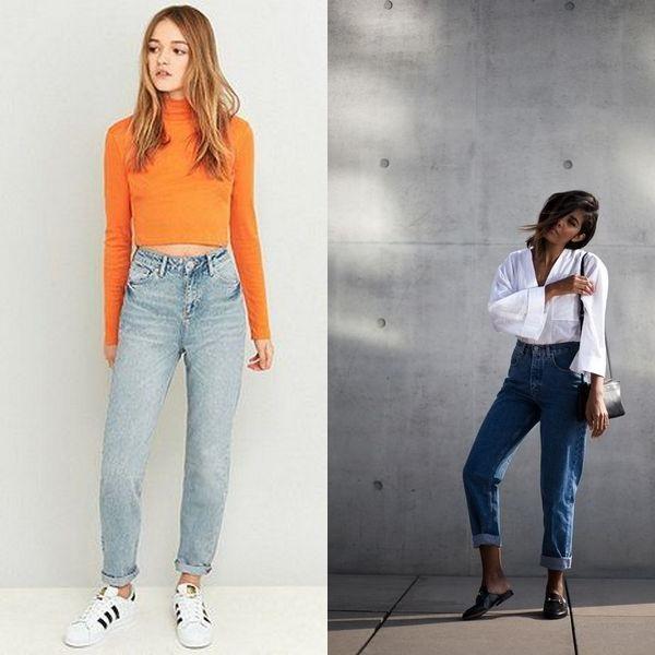 Не менее популярные и широкие джинсы «американки»