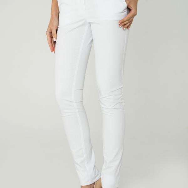 Облегающие белые брюки