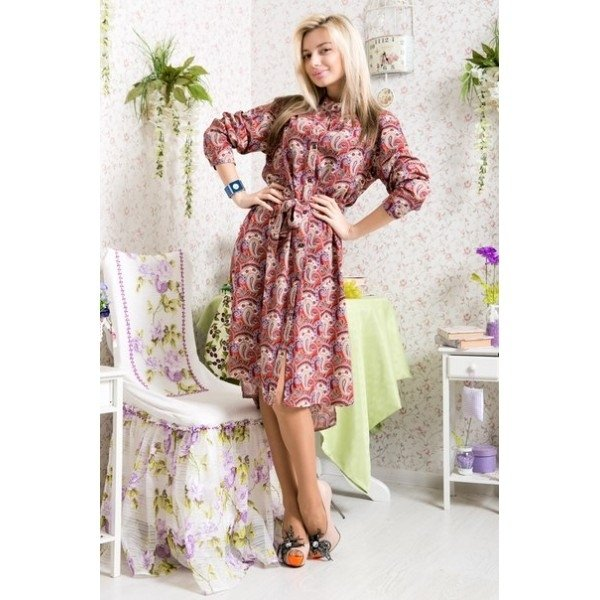 Оригинальный принт платья