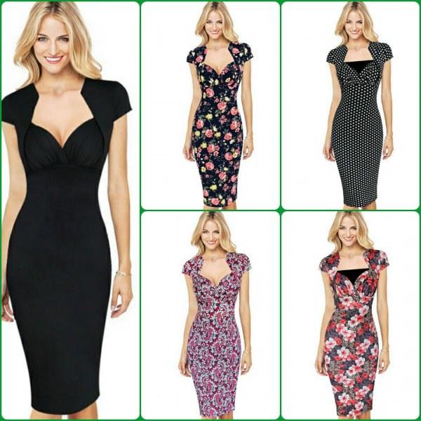 Оттенки разных платьев