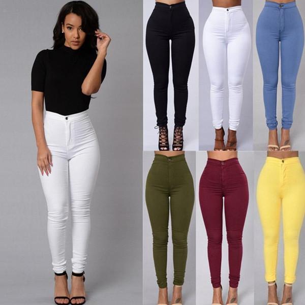 Оттенки женских джинсов