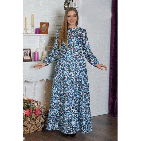 Платье длинное из ситца