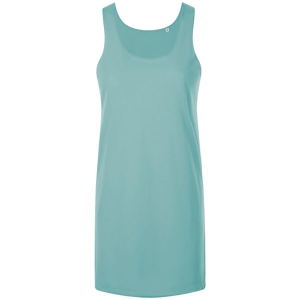 Платье-футболка бирюзового цвета