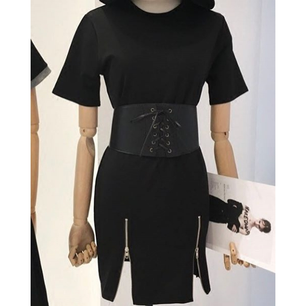 Платье-футболка в комплекте с корсетом