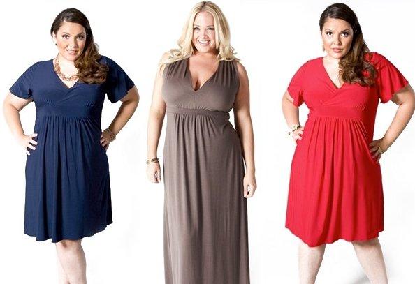 Платье футляр для полных женщин с фигурой яблоко