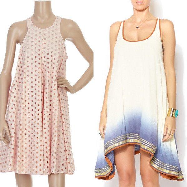 Платье-трапеция с рукавами