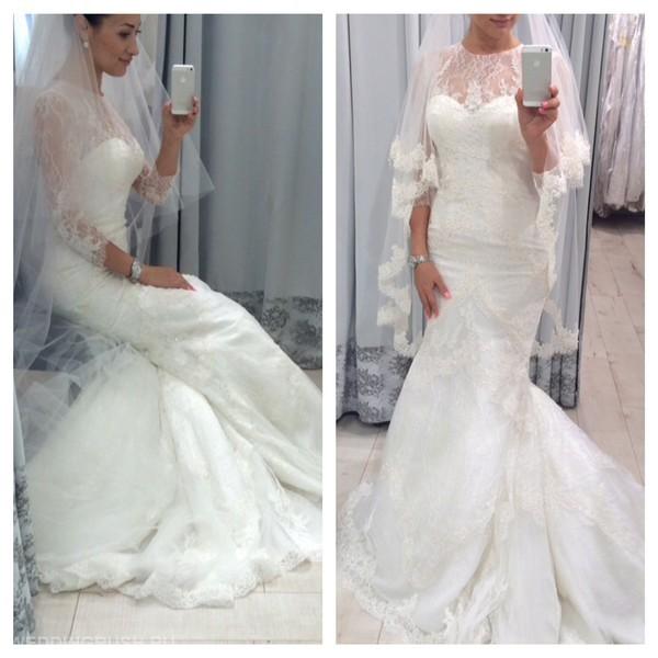 Платья рыбка свадебное