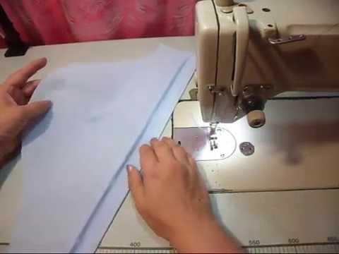 Подшиваем рукава рубашки