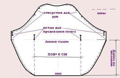 Пример выкройки