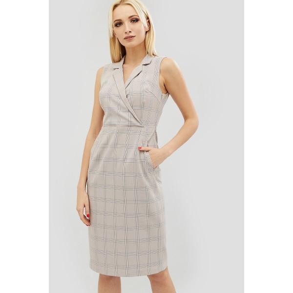 Пудровое платье