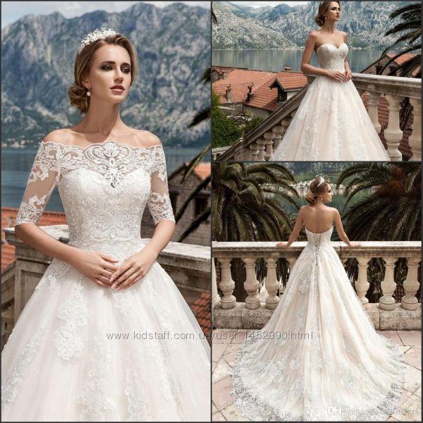 Роскошное брендовое свадебное платье