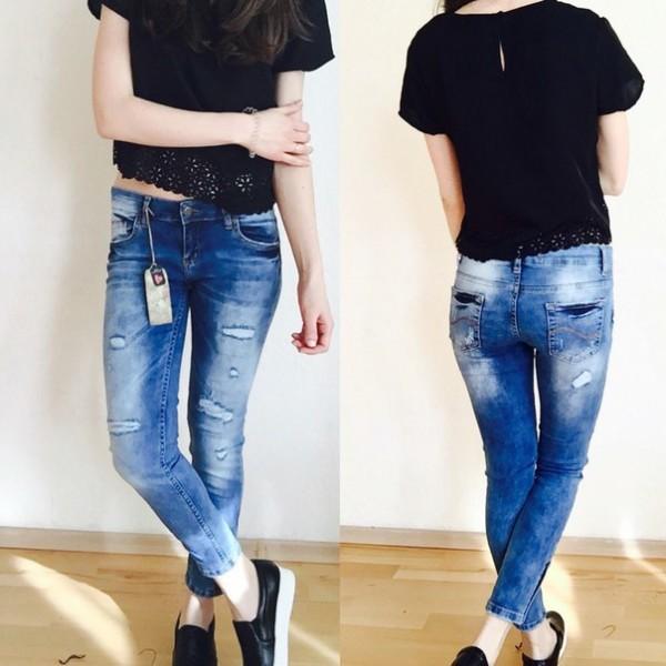 Рваные джинсы узкие