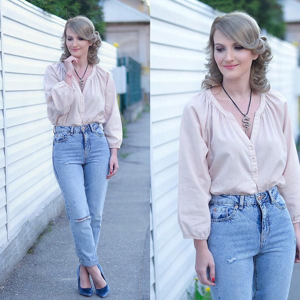 С чем носить джинсы-американки