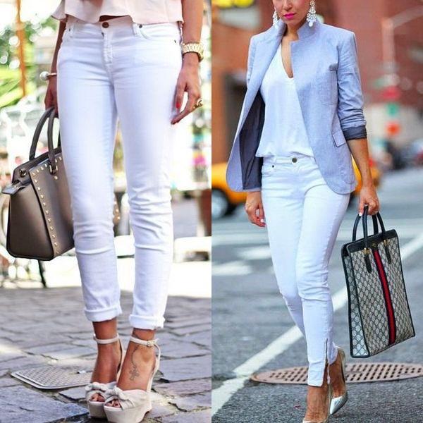 Скинни джинсы и с чем их носить
