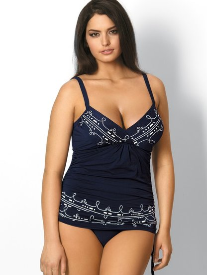 Слитный купальник-платье большого размера с регулируемыми завязками