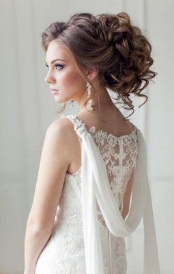 Стильная прическа для свадьбы