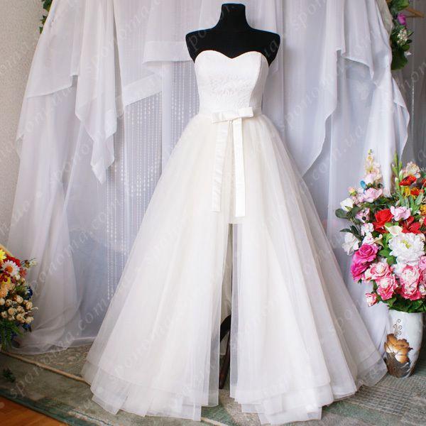 Стильное свадебное платье - трансформер