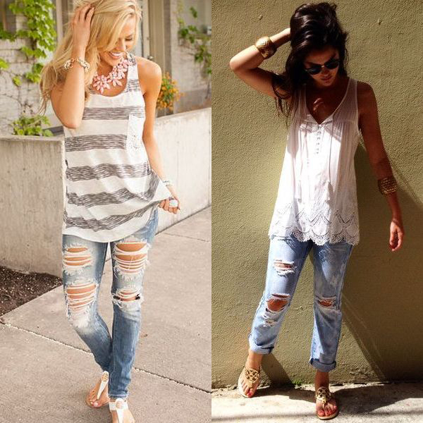 Стильные джинсы для девушки