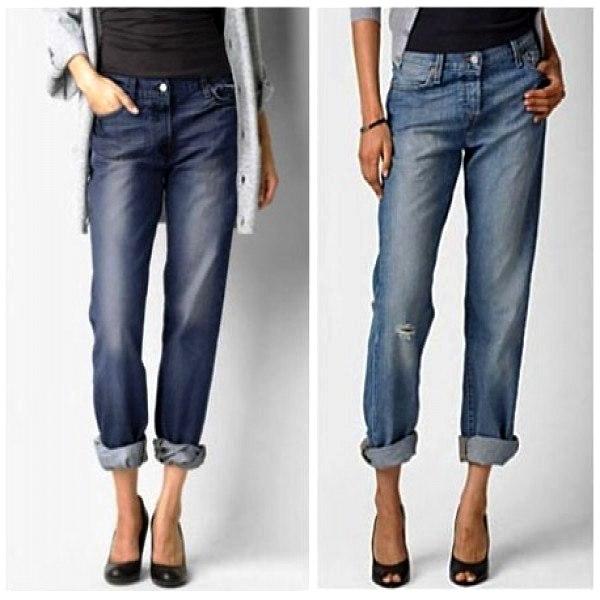 Существуют разные модификации бойфренд-джинсов