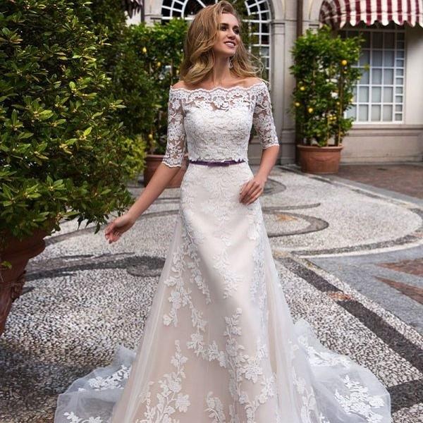 Свадебное платье айвори-беж