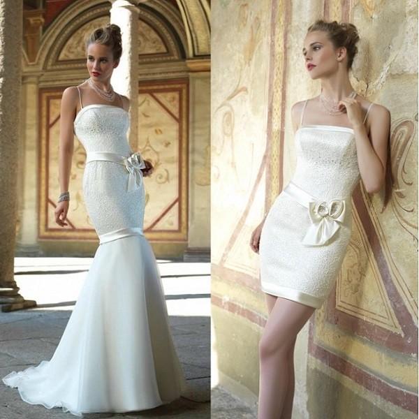 Свадебное платье в стиле «Рыбка» трансформер с отстегивающейся юбкой