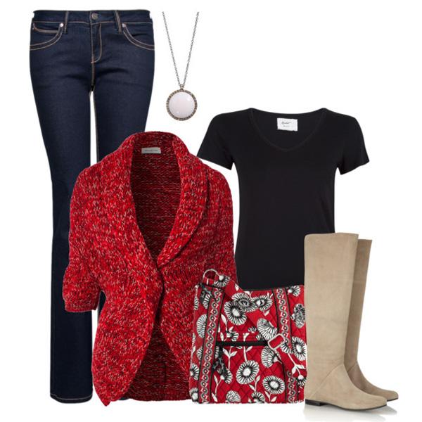 Темно-красный пиджак под темные штаны