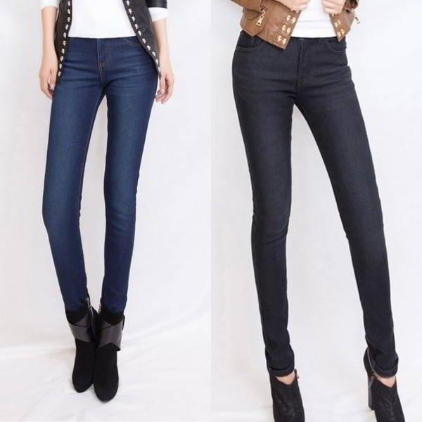Удлиненные обтягивающие джинсы