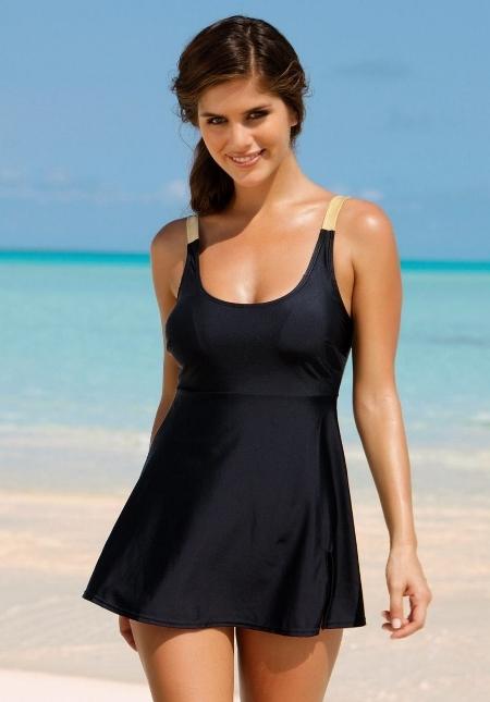 Удлиненный фасон платья