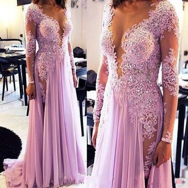 Удобное светло-фиолетовое вечернее платье