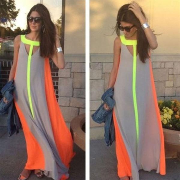 Яркое современное платье из шифона