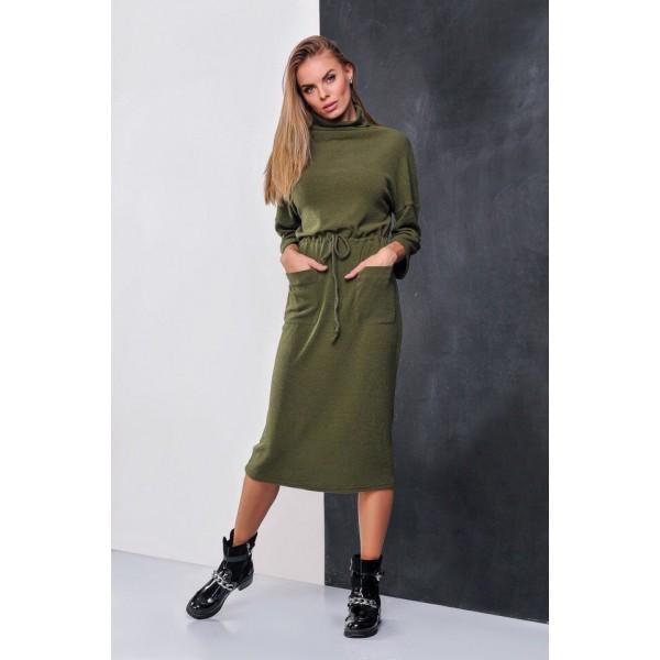 Зеленое полиамидовое платье