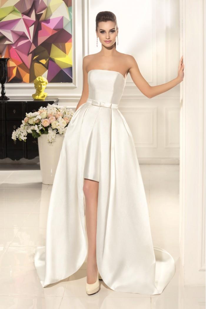 Атласное платье для свадьбы
