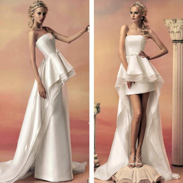 Атласное свадебное платье-трансформер