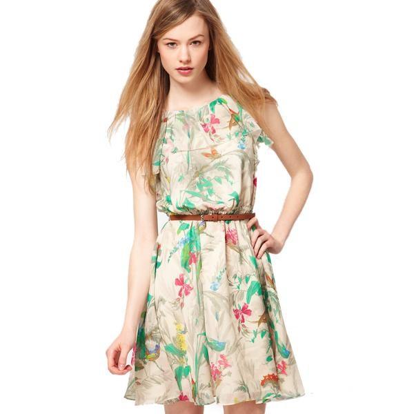 Интересный принт платья