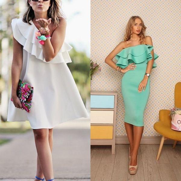 7c2eaafb610 Легкие летние платья с воланом внизу из шифона