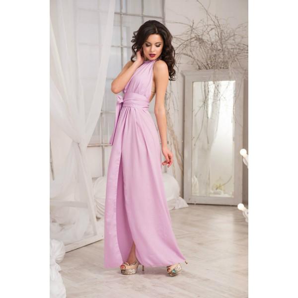 Платье розового цвета в пол